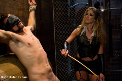 "Photo number 3 from From Worthless To Worthy In Five Mistresses: Episode 3, ""Chastity CBT"" shot for Divine Bitches on Kink.com. Featuring Scout and Felony in hardcore BDSM & Fetish porn."