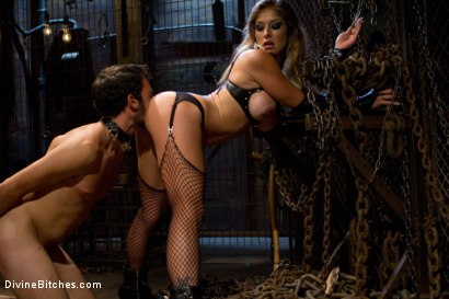 """Photo number 7 from From Worthless To Worthy In Five Mistresses: Episode 3, """"Chastity CBT"""" shot for Divine Bitches on Kink.com. Featuring Scout and Felony in hardcore BDSM & Fetish porn."""
