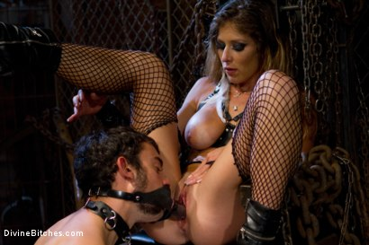 """From Worthless To Worthy In Five Mistresses: Episode 3, """"Chastity CBT"""""""