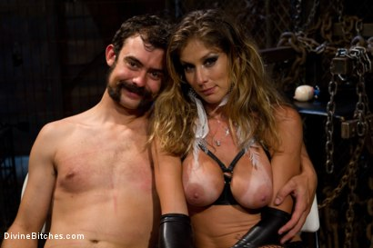 "Photo number 10 from From Worthless To Worthy In Five Mistresses: Episode 3, ""Chastity CBT"" shot for Divine Bitches on Kink.com. Featuring Scout and Felony in hardcore BDSM & Fetish porn."