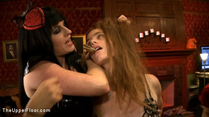 Photo number 13 from Sophie's Tea Party shot for The Upper Floor on Kink.com. Featuring Iona Grace, Sophie Monroe, Lilla Katt and Nerine Mechanique in hardcore BDSM & Fetish porn.