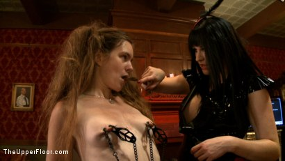 Photo number 14 from Sophie's Tea Party shot for The Upper Floor on Kink.com. Featuring Iona Grace, Sophie Monroe, Lilla Katt and Nerine Mechanique in hardcore BDSM & Fetish porn.