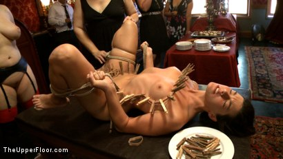 Photo number 12 from Sophie's Tea Party shot for The Upper Floor on Kink.com. Featuring Iona Grace, Sophie Monroe, Lilla Katt and Nerine Mechanique in hardcore BDSM & Fetish porn.