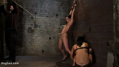 Photo number 11 from Brutalize her with a massive dose of tickling. Boy does she hate every second!<br> C5 suspension  shot for Hogtied on Kink.com. Featuring Isis Love and Elise Graves in hardcore BDSM & Fetish porn.