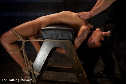 """Photo number 3 from Skin Diamond Day Three<br>""""Slave Ransom"""" Sexual Training shot for The Training Of O on Kink.com. Featuring Skin Diamond and Maestro in hardcore BDSM & Fetish porn."""