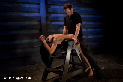 """Photo number 7 from Skin Diamond Day Three<br>""""Slave Ransom"""" Sexual Training shot for The Training Of O on Kink.com. Featuring Skin Diamond and Maestro in hardcore BDSM & Fetish porn."""