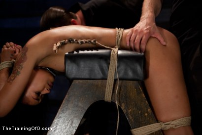 """Photo number 8 from Skin Diamond Day Three<br>""""Slave Ransom"""" Sexual Training shot for The Training Of O on Kink.com. Featuring Skin Diamond and Maestro in hardcore BDSM & Fetish porn."""
