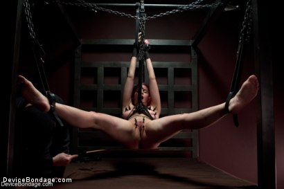 Photo number 1 from Sexy Bad Girl Tamed By Chain shot for Device Bondage on Kink.com. Featuring Rozen Debowe in hardcore BDSM & Fetish porn.