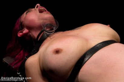 Photo number 3 from Sexy Bad Girl Tamed By Chain shot for Device Bondage on Kink.com. Featuring Rozen Debowe in hardcore BDSM & Fetish porn.