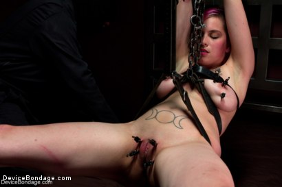 Photo number 9 from Sexy Bad Girl Tamed By Chain shot for Device Bondage on Kink.com. Featuring Rozen Debowe in hardcore BDSM & Fetish porn.