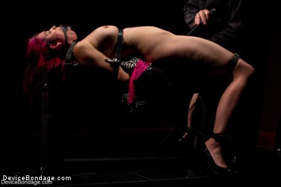 Photo number 2 from Sexy Bad Girl Tamed By Chain shot for Device Bondage on Kink.com. Featuring Rozen Debowe in hardcore BDSM & Fetish porn.