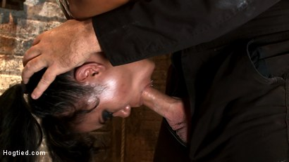Photo number 7 from Pussy flogging, caning, nipple torture, face fucking, finger fucking & 2 massive squirting orgasms! shot for Hogtied on Kink.com. Featuring Annie Cruz in hardcore BDSM & Fetish porn.