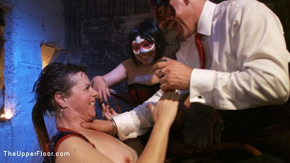 Photo number 6 from Gemini Debauchery shot for The Upper Floor on Kink.com. Featuring Iona Grace, Sparky Sin Claire, Lilla Katt and Nerine Mechanique in hardcore BDSM & Fetish porn.