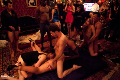 Photo number 3 from Eyes Wide Fucked pt. 2 the Porn Star Orgy shot for Kink Test Shoots on Kink.com. Featuring James Deen, Mark Davis, Marco Banderas, Lexi Belle, Phoenix Marie, Gia DiMarco and Iona Grace in hardcore BDSM & Fetish porn.