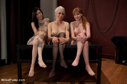 Photo number 15 from The Interview: Part 2 shot for Wired Pussy on Kink.com. Featuring Lorelei Lee, Marie McCray and Krysta Kaos in hardcore BDSM & Fetish porn.
