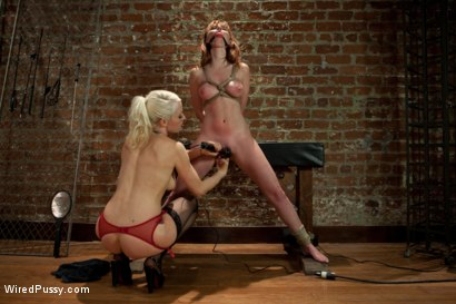 Photo number 5 from The Interview: Part 2 shot for Wired Pussy on Kink.com. Featuring Lorelei Lee, Marie McCray and Krysta Kaos in hardcore BDSM & Fetish porn.