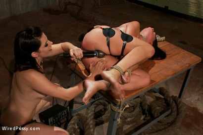 Photo number 14 from Busty Brunette in for a Sure Shock Fuck shot for Wired Pussy on Kink.com. Featuring Bobbi Starr and Ashli Ames in hardcore BDSM & Fetish porn.