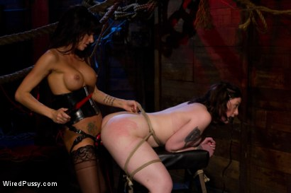 Photo number 13 from Creamy lustful lesbian suffers for the attention shot for Wired Pussy on Kink.com. Featuring Gia DiMarco and Melina Mason in hardcore BDSM & Fetish porn.