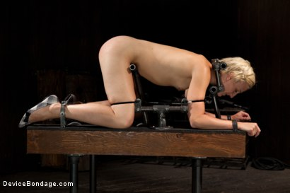 Photo number 2 from Tall blonde bound and fucked into oblivion shot for Device Bondage on Kink.com. Featuring Dylan Ryan in hardcore BDSM & Fetish porn.