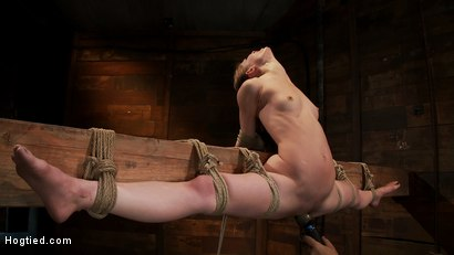 Photo number 15 from Girl next door, severely bound and helpless<br>Stripped, elbows bound, legs split, multi-orgasms! shot for Hogtied on Kink.com. Featuring Sensi Pearl and Rain DeGrey in hardcore BDSM & Fetish porn.