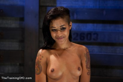 Photo number 11 from Skin Diamond Day Two<br>Slave Ransom shot for The Training Of O on Kink.com. Featuring Skin Diamond in hardcore BDSM & Fetish porn.