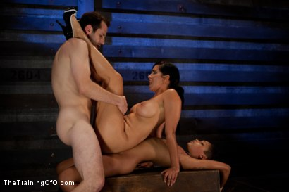 Photo number 15 from Slave Ransom Day 5-Sexual Overload<br>Every Hole Gets Filled shot for The Training Of O on Kink.com. Featuring Skin Diamond, Isis Love, Maestro and Matt Williams in hardcore BDSM & Fetish porn.