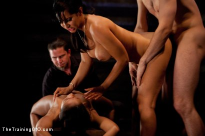 Photo number 13 from Slave Ransom Day 5-Sexual Overload<br>Every Hole Gets Filled shot for The Training Of O on Kink.com. Featuring Skin Diamond, Isis Love, Maestro and Matt Williams in hardcore BDSM & Fetish porn.