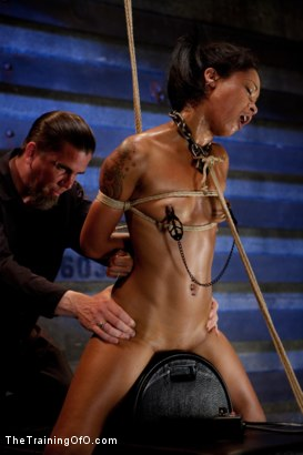 Photo number 13 from Skin Diamond-Day 4<br>Intense Predicament Bondage & Non-Stop Orgasms Pushes ash Over the Edge shot for The Training Of O on Kink.com. Featuring Skin Diamond in hardcore BDSM & Fetish porn.