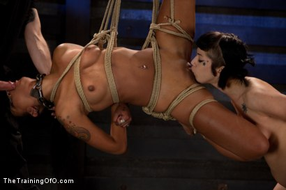 Photo number 21 from Skin Diamond Live Show   The Final Test of Slave Training ash shot for The Training Of O on Kink.com. Featuring Skin Diamond, Maestro and Asphyxia Noir in hardcore BDSM & Fetish porn.