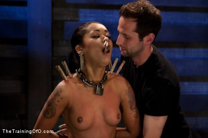 Photo number 6 from Skin Diamond Live Show<br>The Final Test of Slave Training ash shot for The Training Of O on Kink.com. Featuring Skin Diamond, Maestro and Asphyxia Noir in hardcore BDSM & Fetish porn.