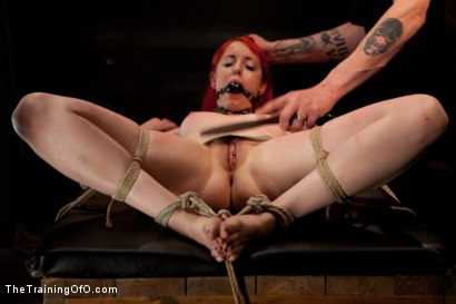 Photo number 3 from Sloane Soleil LIVE Shoot  19's Final Test shot for The Training Of O on Kink.com. Featuring Sloane Soleil in hardcore BDSM & Fetish porn.