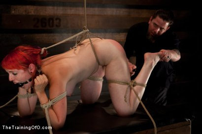 Photo number 1 from Sloane Soleil LIVE Shoot<br>19's Final Test shot for The Training Of O on Kink.com. Featuring Sloane Soleil in hardcore BDSM & Fetish porn.