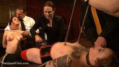 Photo number 5 from Service Day: Betrothed shot for The Upper Floor on Kink.com. Featuring Sparky Sin Claire, Iona Grace and Nerine Mechanique in hardcore BDSM & Fetish porn.