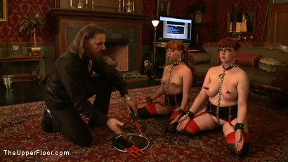Photo number 10 from Service Day: Chains and Cupcakes shot for The Upper Floor on Kink.com. Featuring Lilla Katt and Nerine Mechanique in hardcore BDSM & Fetish porn.