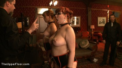 Photo number 4 from Service Day: Chains and Cupcakes shot for The Upper Floor on Kink.com. Featuring Lilla Katt and Nerine Mechanique in hardcore BDSM & Fetish porn.