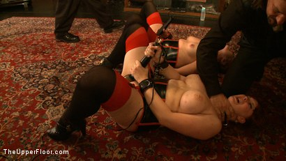 Photo number 5 from Service Day: Chains and Cupcakes shot for The Upper Floor on Kink.com. Featuring Lilla Katt and Nerine Mechanique in hardcore BDSM & Fetish porn.