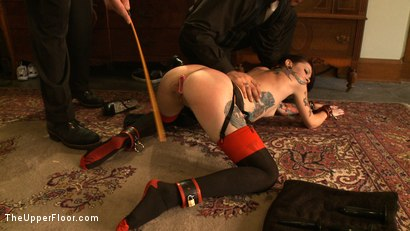 Photo number 12 from Service Day: Double Anal Training  shot for The Upper Floor on Kink.com. Featuring Krysta Kaos in hardcore BDSM & Fetish porn.