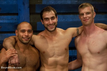 Photo number 15 from Breaking Leo Forte - Live Shoot shot for Bound Gods on Kink.com. Featuring Spencer Reed, Leo Forte, Blake Daniels and Van Darkholme in hardcore BDSM & Fetish porn.