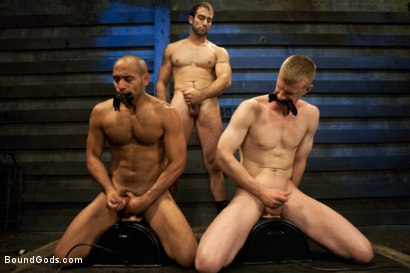 Photo number 12 from Breaking Leo Forte - Live Shoot shot for Bound Gods on Kink.com. Featuring Spencer Reed, Leo Forte, Blake Daniels and Van Darkholme in hardcore BDSM & Fetish porn.
