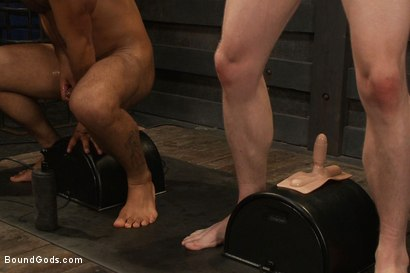 Photo number 11 from Breaking Leo Forte - Live Shoot shot for Bound Gods on Kink.com. Featuring Spencer Reed, Leo Forte, Blake Daniels and Van Darkholme in hardcore BDSM & Fetish porn.