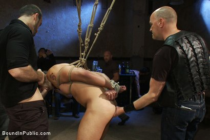 Photo number 5 from Blindfolded stud sucks strangers cocks at a party. shot for Bound in Public on Kink.com. Featuring Spencer Reed and Emanuel in hardcore BDSM & Fetish porn.