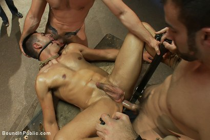 Photo number 14 from Blindfolded stud sucks strangers cocks at a party. shot for Bound in Public on Kink.com. Featuring Spencer Reed and Emanuel in hardcore BDSM & Fetish porn.
