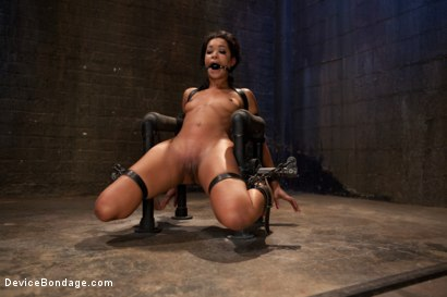 Photo number 4 from Part 2: Sexual Overload shot for Device Bondage on Kink.com. Featuring Skin Diamond and Maestro in hardcore BDSM & Fetish porn.