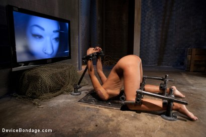 Photo number 10 from Part 2: Sexual Overload shot for Device Bondage on Kink.com. Featuring Skin Diamond and Maestro in hardcore BDSM & Fetish porn.