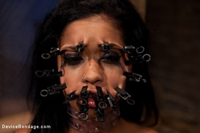 Photo number 9 from Part 2: Sexual Overload shot for Device Bondage on Kink.com. Featuring Skin Diamond and Maestro in hardcore BDSM & Fetish porn.