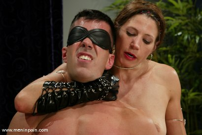 Photo number 3 from Marc Bowman and Kym Wilde shot for Men In Pain on Kink.com. Featuring Marc Bowman and Kym Wilde in hardcore BDSM & Fetish porn.