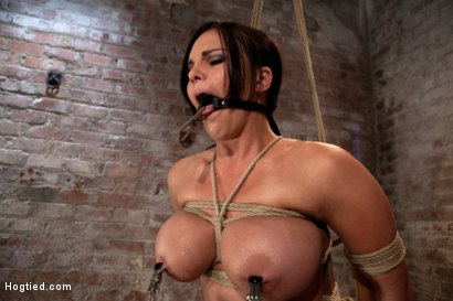Photo number 12 from Bound in a chair with a vibrator perfectly stuck on her clit  Let's just watch her suffer and cum shot for Hogtied on Kink.com. Featuring Mackenzee Pierce in hardcore BDSM & Fetish porn.