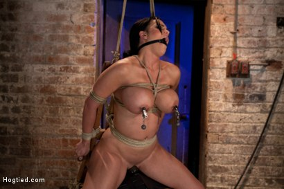 Photo number 13 from Bound in a chair with a vibrator perfectly stuck on her clit   Let's just watch her suffer and cum shot for Hogtied on Kink.com. Featuring Mackenzee Pierce in hardcore BDSM & Fetish porn.