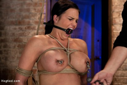 Photo number 6 from Bound in a chair with a vibrator perfectly stuck on her clit   Let's just watch her suffer and cum shot for Hogtied on Kink.com. Featuring Mackenzee Pierce in hardcore BDSM & Fetish porn.