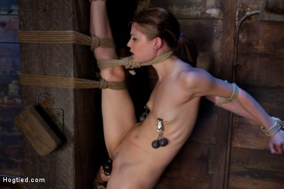 Photo number 12 from Standing splits, full strappado<br>Intense foot caning, brutal orgasms ripped from her helpless body shot for Hogtied on Kink.com. Featuring Sensi Pearl and Rain DeGrey in hardcore BDSM & Fetish porn.